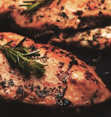Grilled Chicken with Blackberry Sauce